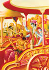 Krsna and the living entity are seated on the tree of the body.