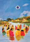 All the members of the Yadu dynasty again took their baths in the lakes created by Lord Parasurama.