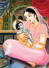 Lord Krsna played on the lap of Devaki just like an ordinary child.