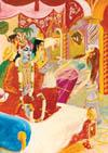 Krishna and Arjuna sounded their transcendental conchshells.
