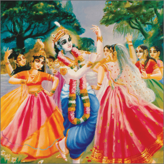 Balarama passed every night with the gopis in the forest of Vrndavana.