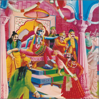 SiSupala continued to insult Krisna, and Krisna patiently heard him without protest.