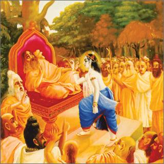 Balarama killed Romaharsana simply by striking him with a blade of grass.