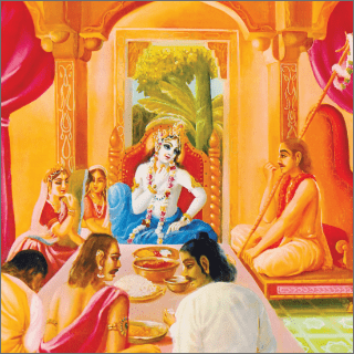 Arjuna was simply looking over beautiful Subhadra, who was very enchanting even to the great heroes and kings.