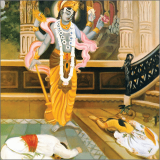 Therefore I request You to conceal this four-armed form of Your Lordship which holds the four symbols of Visnu ...