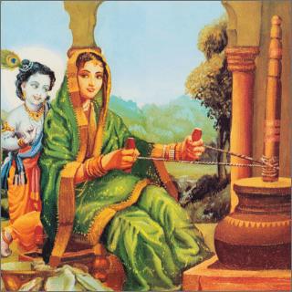 Krsna always demanded mother Yasoda's complete attention.