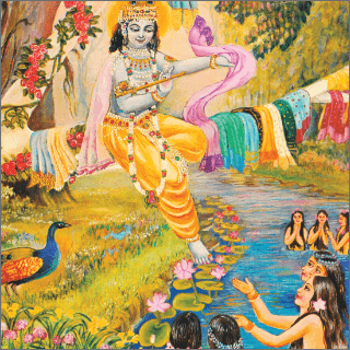 Due to remaining in the water for a long time , the gopis felt cold and were shivering.